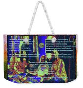 Suzannian Algorithm Finger-painted On An Abstract Wall Number 2 Weekender Tote Bag