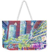 Suzhou Center Mall In The Rain, East Side, Suzhou, China Weekender Tote Bag