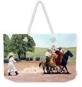 Suzzi Q. Whirling The Rope Weekender Tote Bag by Tom Roderick