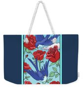 Swallows And Roses Weekender Tote Bag