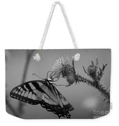 Swallowtail Black And White Weekender Tote Bag