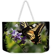 Swallowtail Butterfly 1 With Swirly Frame Weekender Tote Bag