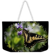 Swallowtail Butterfly 2 With Swirly Framing Weekender Tote Bag