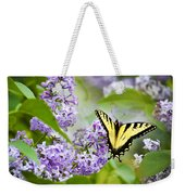 Swallowtail Butterfly On Lilacs Weekender Tote Bag