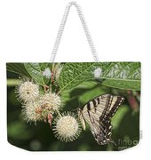 Swallowtail With Flowers Weekender Tote Bag