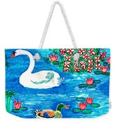 Swan And Duck Weekender Tote Bag