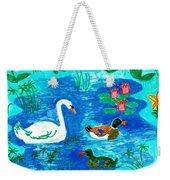 Swan And Two Ducks Weekender Tote Bag