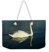Swan Blasting Away Weekender Tote Bag