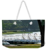 Swan Boat In A Lake Weekender Tote Bag