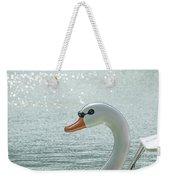 Swan Boat In The Lake Weekender Tote Bag