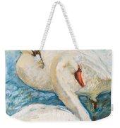 Swan Couple Weekender Tote Bag
