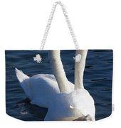 Swan Courtship  Weekender Tote Bag