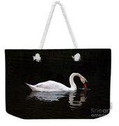 Swan Drinking Weekender Tote Bag