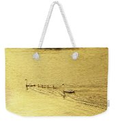 Swan Family Into The Sunset Weekender Tote Bag