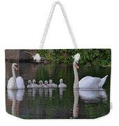 Swan Family Portrait Weekender Tote Bag