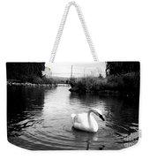Swan In Black And White Weekender Tote Bag