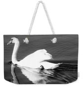 Swan In Motion On A Pond Weekender Tote Bag