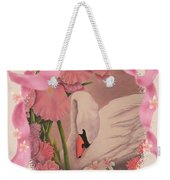 Swan In Pink Card Weekender Tote Bag