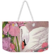 Swan In Pink Weekender Tote Bag