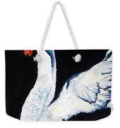 Swan In Shadows Weekender Tote Bag