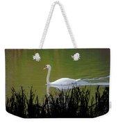 Swan In The Pond Weekender Tote Bag