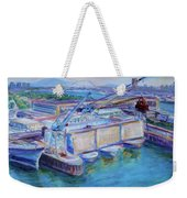 Swan Island Poetry - Large Original Contempory Impressionist Painting Weekender Tote Bag