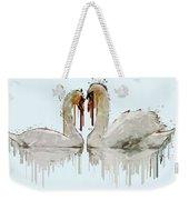 Swan Love Acrylic Painting Weekender Tote Bag