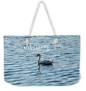 Swan Miss You Weekender Tote Bag