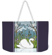 Swan On The River Weekender Tote Bag