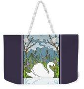 Swan On The River Weekender Tote Bag