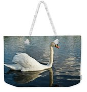 Swan On The Run Weekender Tote Bag