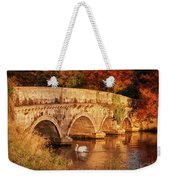 Swan On The Rye Water - Kildare, Ireland Weekender Tote Bag by Barry O Carroll