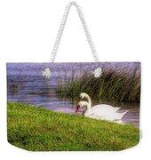 Swan Pair Warm Color Weekender Tote Bag