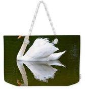 Swan Reflecting Weekender Tote Bag
