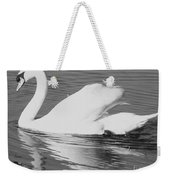 Swan Reflection Weekender Tote Bag