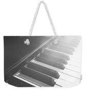Swan Song Music Piano Keys Black And White Weekender Tote Bag