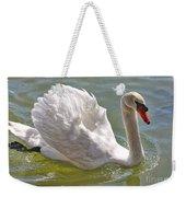 Swan Swimming By Weekender Tote Bag