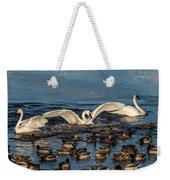 Swan Wings Reach Weekender Tote Bag