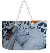Swan Totem Weekender Tote Bag