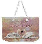 Swan Valentine Weekender Tote Bag