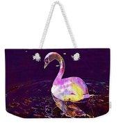 Swan Water Bird Water River  Weekender Tote Bag