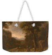 Swanevelt, Herman Van Woerden, 1603 - Paris, 1655 Landscape With Travellers And A Shepherd 1635 - 16 Weekender Tote Bag