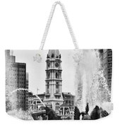 Swann Memorial Fountain In Black And White Weekender Tote Bag