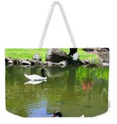 Swans And Gold Fish Weekender Tote Bag