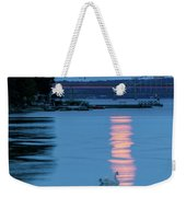 Swans And The Moonrise In Stockholm Weekender Tote Bag