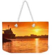 Swans At Sunset Weekender Tote Bag