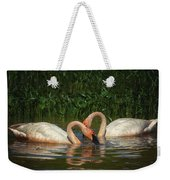 Swans In A Pond  Weekender Tote Bag