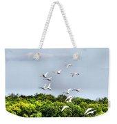 Swans In Flight Weekender Tote Bag