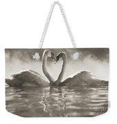 Swans In Lake Weekender Tote Bag