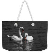 Swans Swimming Isolation Weekender Tote Bag